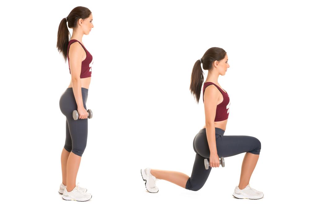 dumbbell-forward-lunge